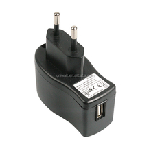 smart mobile phone power charger, wall type eu plug 5w 5v 1a single usb charger adapters with UL CE FCC PSE KC certified