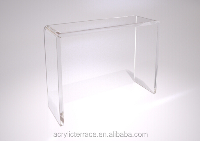 Crystal Clear Acrylic Lucite Perspex Plexiglas Water Fall Console Table  2031510208