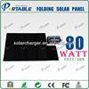 80W Military foldable solar bag charger for laptop and mobile phone