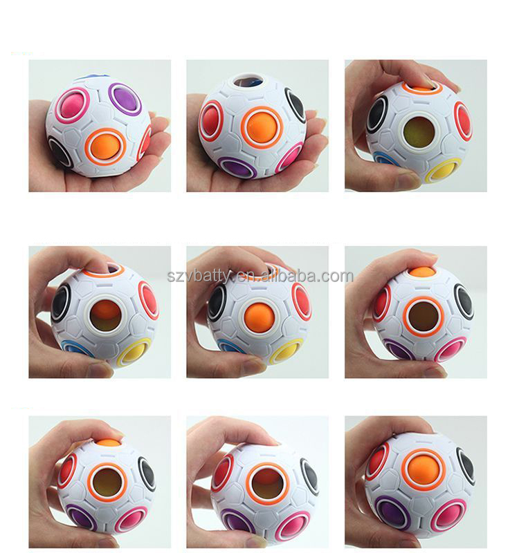 One day shipping hot sale Fidget toys ABS Rainbow puzzle ball special magic rainbow ball