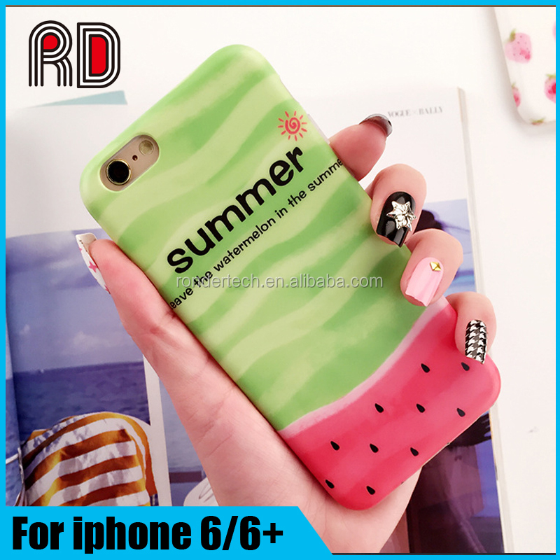 IMD 3D summer fruit big watermelon soft tpu protective back cover cases for iphone 6 6s
