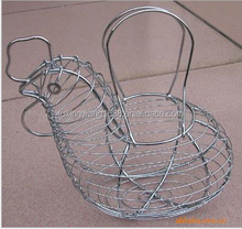 home decorative wire egg basket / chicken wire egg basket