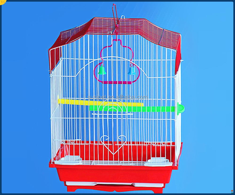Budgie Cage Hanging Wooden Bird Parrot Swing Toys Parakeet Cockatiel Colorful iron birds cages