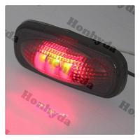 12v Smoked /Red Front Side Marker LED Fender Lights for Mega Cab 3500