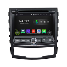 Double din 1.6GHZ Quad-core 3G wifi AUX IN mirror link Car Gps navigation for Korando 2010-2013