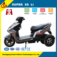 Super X6,factory wholesale 2000W 72V lithium 3 wheels electric tricycle