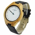 Stock luxury fashion Japan quartz water resistant custom logo wood man watch
