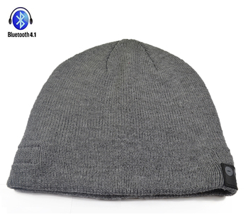 Soft and Warm Hat Wireless Beanie with Bluetooth Smart Cap Speaker Micro Headphone