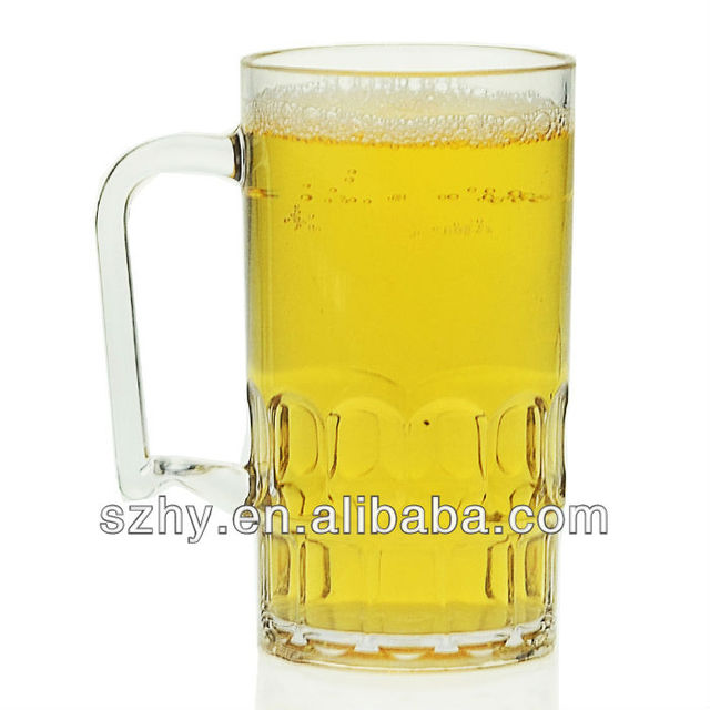 400ml clear polycarbonate unbreakable beer mugs