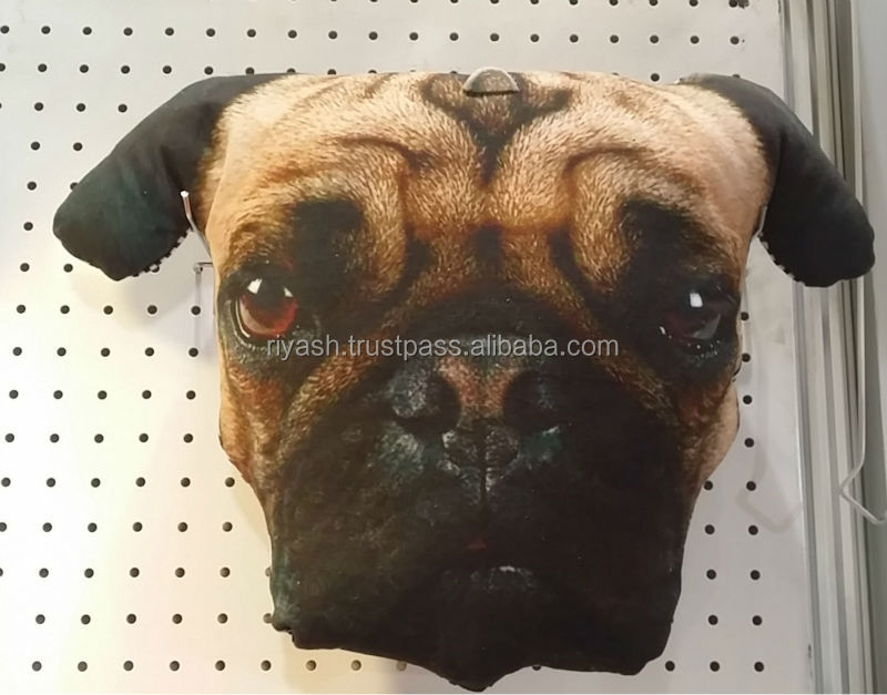 Dog Face Fiber Filled Custom Images Stuff Toys