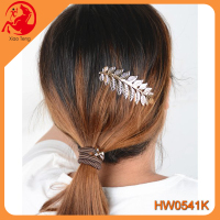 Original korean leaf shape alloy hair pin hairpin girl decorative accessory women jewelry