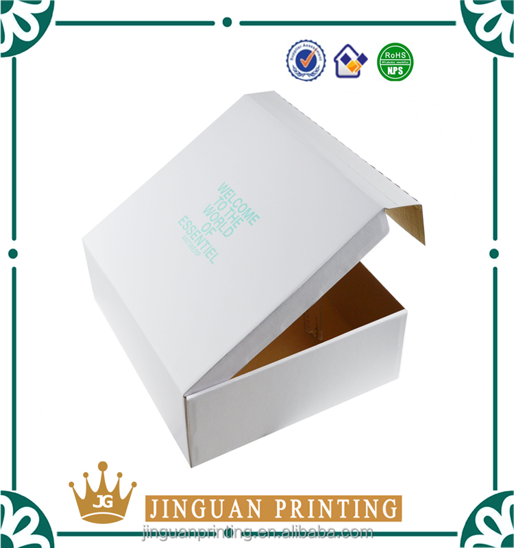 Custom full color printing clothes carton corrugated professional garment paper packaging box