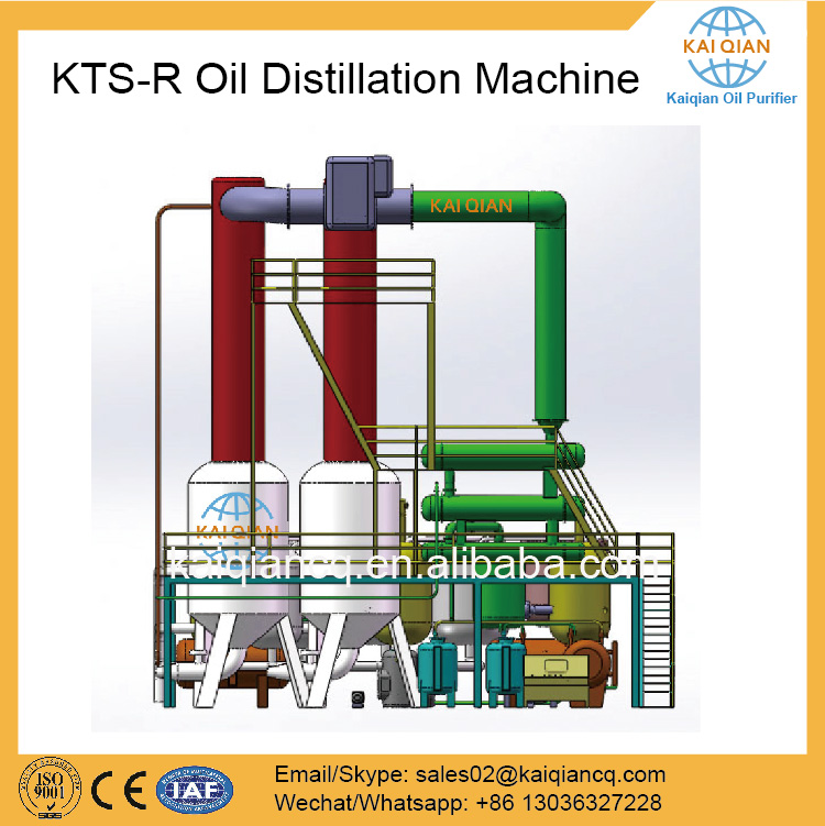 Black Oil Treatment Motor Oil Distillation Machine Factory