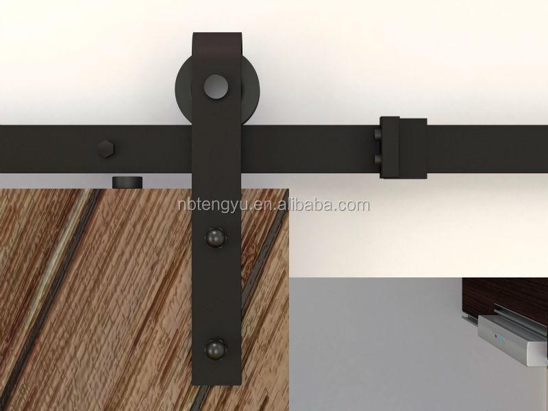 Modern wood barn door hardware view sliding door hardwar for Double hung sliding barn doors