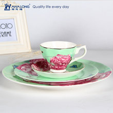 2016 New Year Design Bone China Fine Ceramic Cup Saucer Plates Dinner wareSets