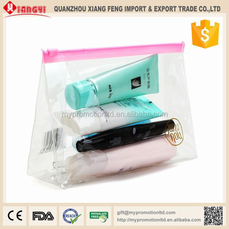 pvc clear plastic zipper bags cosmetic bag wash bag
