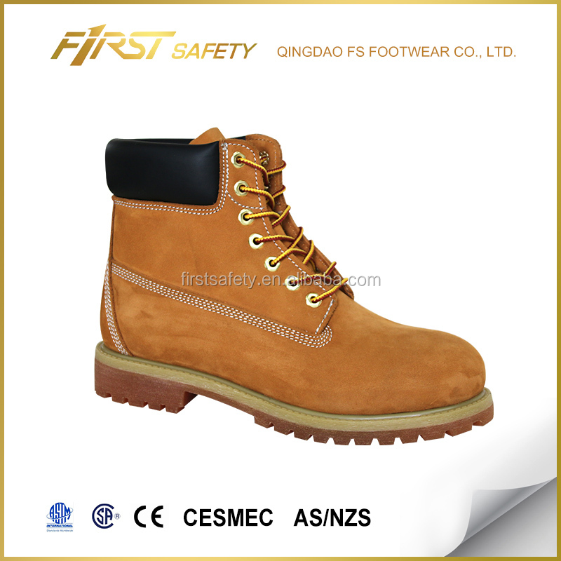 FS1002 Nubuck Leather Ankle Safety Shoes