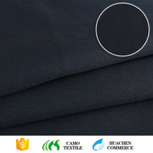 new products professional sea island dyed black twill cotton fabric