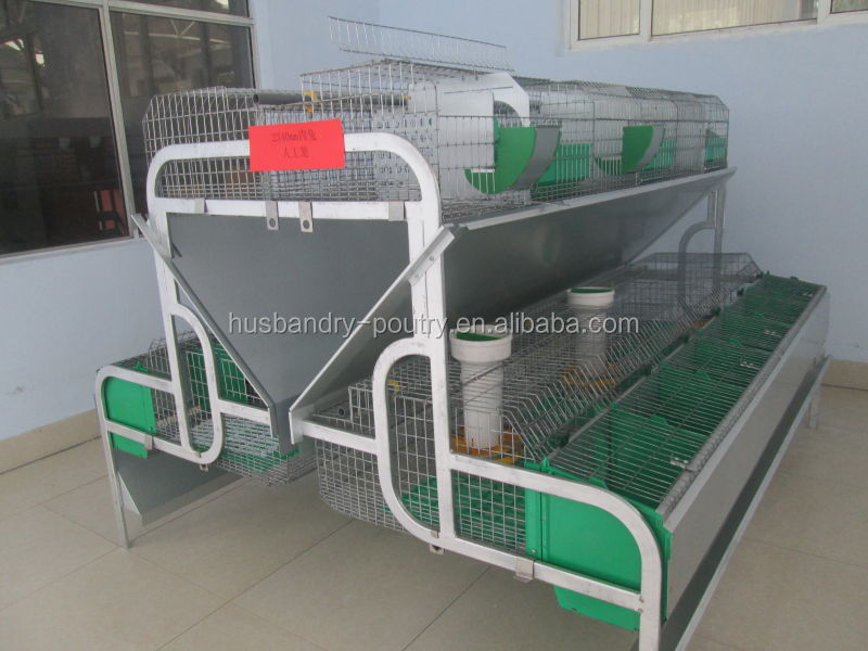 commercial rabbit cages of 2 or 3 tires with rabbit plastic slat floor(rabbit cage-028)