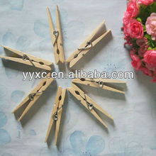 Personalized wooden clothes pegs