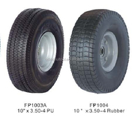 Rubber or PU wheels for hand trucks wholesaler