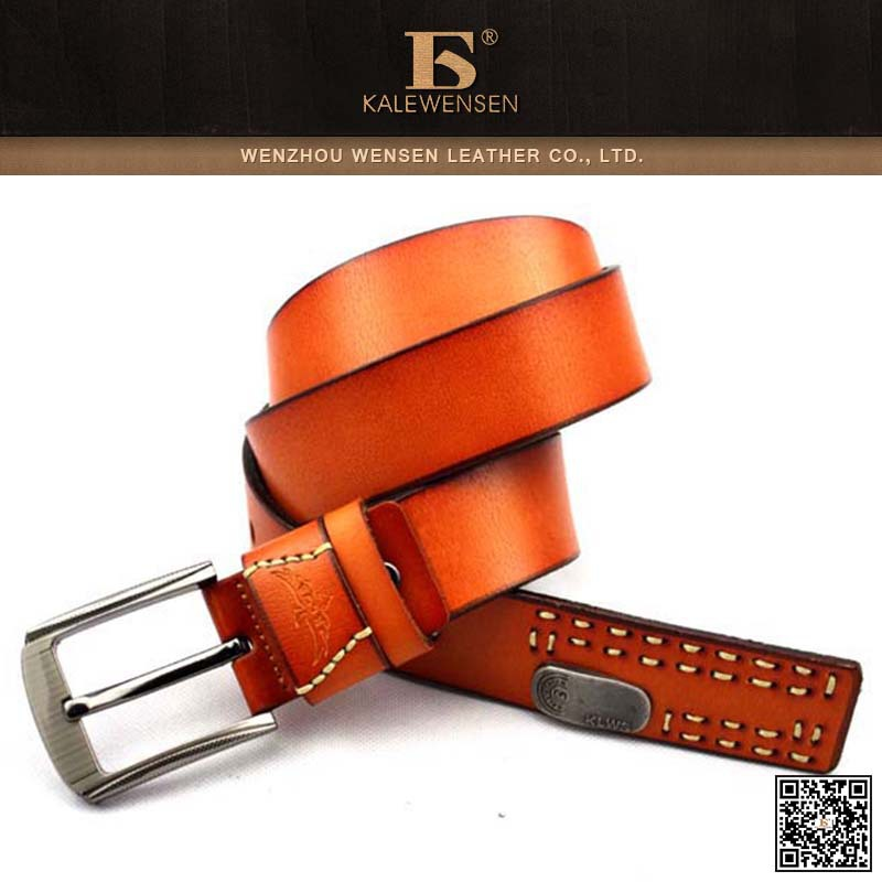 Fashion Men's Vintage Leather Work Belt