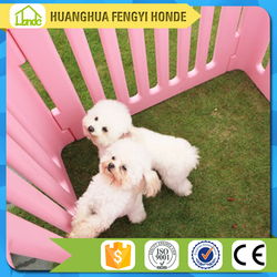 Popular new design quality solid space round design blow molding plastic pet fence