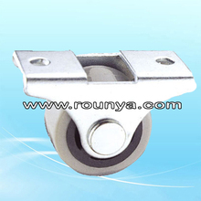 "Fixed Metal Top Plate 1"" Diameter Rigid Caster Wheel"