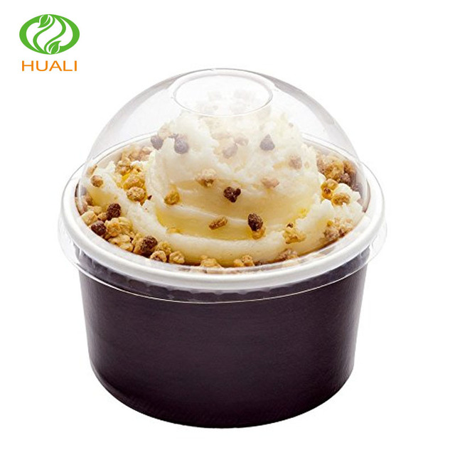 4oz PE coated design biodegradable ice cream paper cup with lids(BRC,FDA,SGS,NSF)