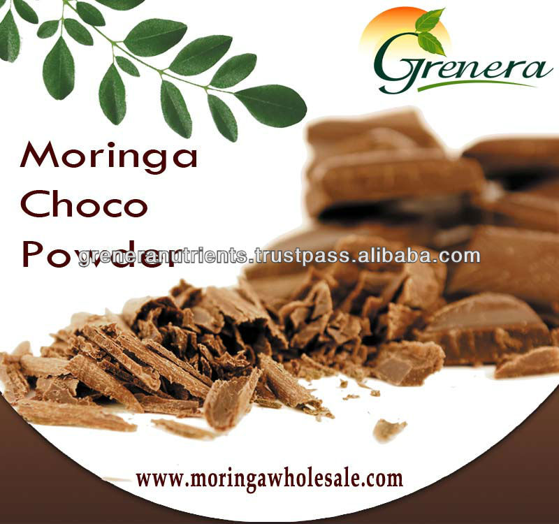 Packed moringa choco powder