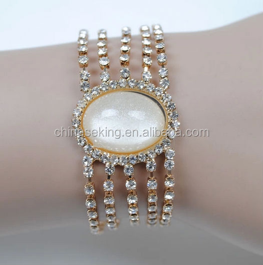 Fashionable character of pearl bracelet set auger of large particles