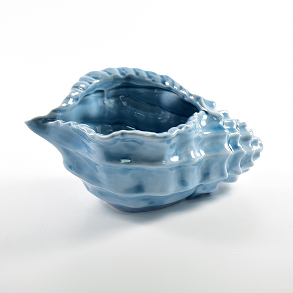 Newest design blue art craft home porcelain sea shell decoration