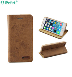 iPefet- Retro Folio Leather Phone Case For iPhone 6 With Credit Card Holder