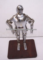 Medieval armor suit with stand