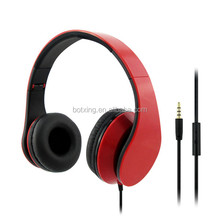 Folding colorful headphone with mic and volume control