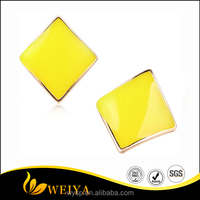 Hot Sale Jewelry Trendy 11 Color Stud Earrings In Street Wild Distortion Square For Fashion Woman