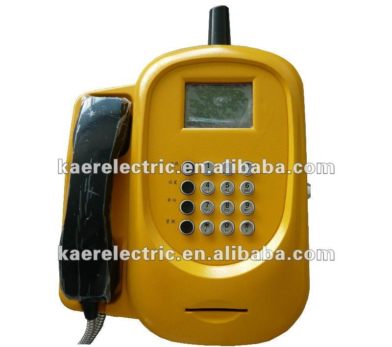 Anti-vandal Wall payphone KT1000(52W) public SIM card phone