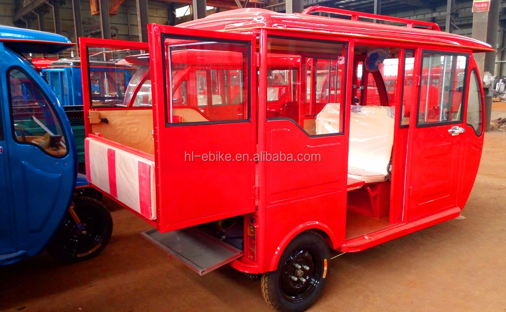 NEW model of the fully enclosed tricycles/rickshaw/bajaj/ tuk tuk/motorcycles/cyclomotors with extra interior room 2100007