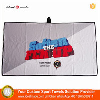 Wholesale Microfiber Waffle Weave Outdoor Golf Towel With Metal Grommet And Bag