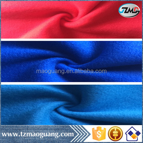 Shaoxing made high quality low price 260gsm FDY 150D/96F two side brushed one side antipilling polar fleece nightgowns fabric