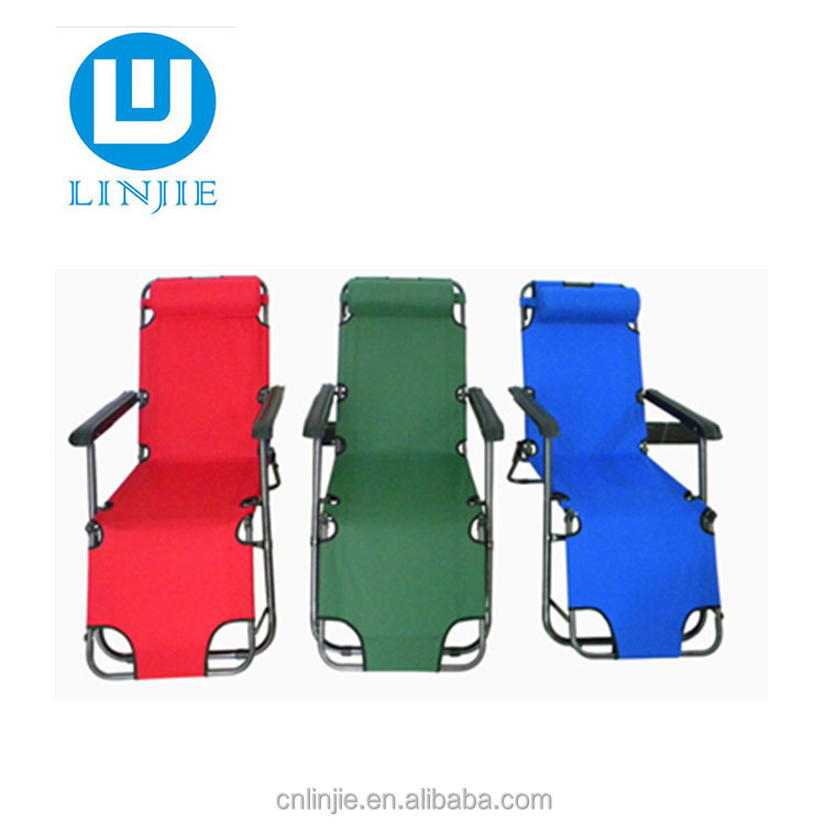 outdoor wholesale steel beach chair folding sling camping chair