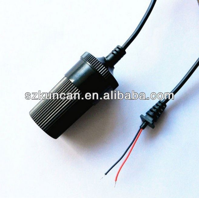 cigarette lighter cable for gps fused 24AWG 1.8m 3m Korea type /US type