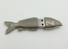 Metal fish usb memory stick for 32GB flash drive 4gb 8gb wholesale