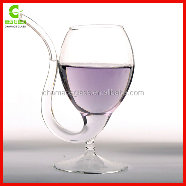 300ml Vampire Glass Cup With Drinking Tube Straw
