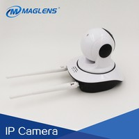 64fps Hi3518E 720P 1MP PTZ wireless wifi camera, CMOS hd CCTV p2p IP camera with two antenna for RF433 frequency
