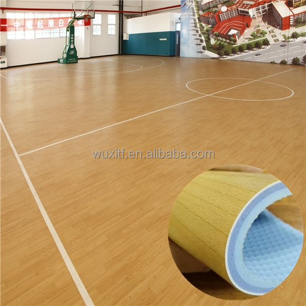 Eco friendly hot sale basketball surface pvc sports floor,customized pvc sports flooring/indoor basketball court floor