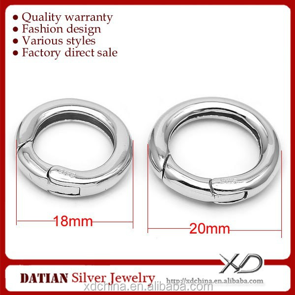XD SNC815-SNC816 wholesale 18/20mm fine 925 sterling silver jewelry clasp