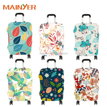 China supplier OEM ODM Colorful spandex travel luggage bag suitcase cover