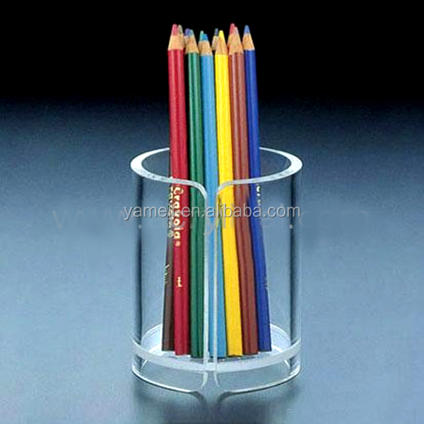 Various acrylic holder office supplies crystal pen holder