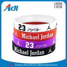 Wholesale Custom Name Band Sports Silicone Rubber Bracelets For Men